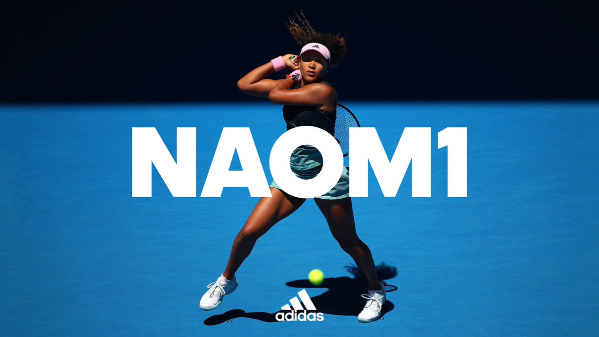 All the way up. No stopping the rise of @Naomi_Osaka_.  #HereToCreate