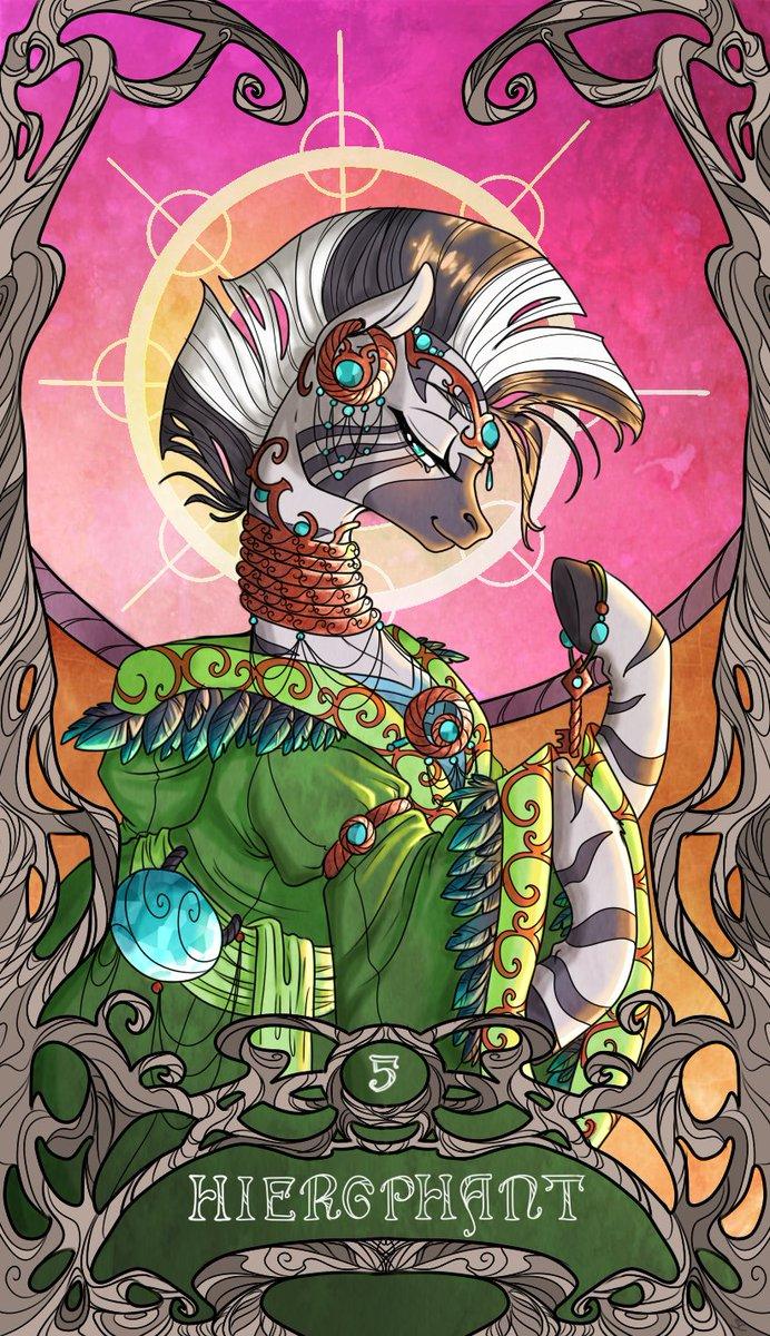 Tarot Cards - Hierophant (By SourCherry) #MLPFiM #MLP #TarotCards #Zecora