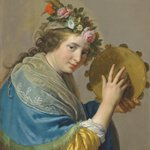 NEW ACQUISITION Paulus Moreelse  (1571 - Utrecht - 1638) 'Shepherdess with a Tambourine' Oil on panel 74 X 60 cm Signed and dated '1635' This charming, slightly sexy and beautiful preserved painting is a feast for the eye.   https://t.co/OsdfTEr3Hq