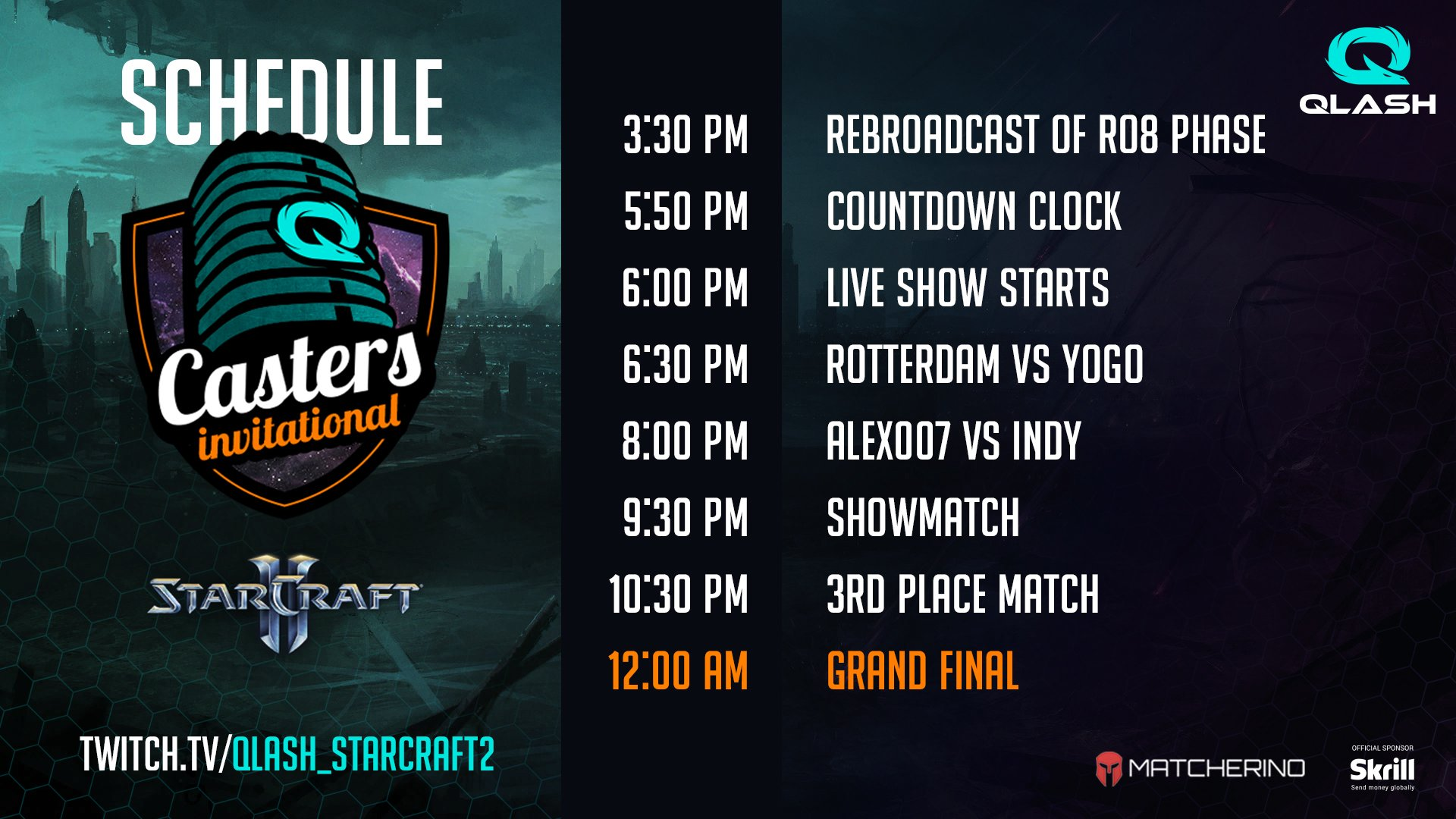 QLASH Casters Invitational Playoff