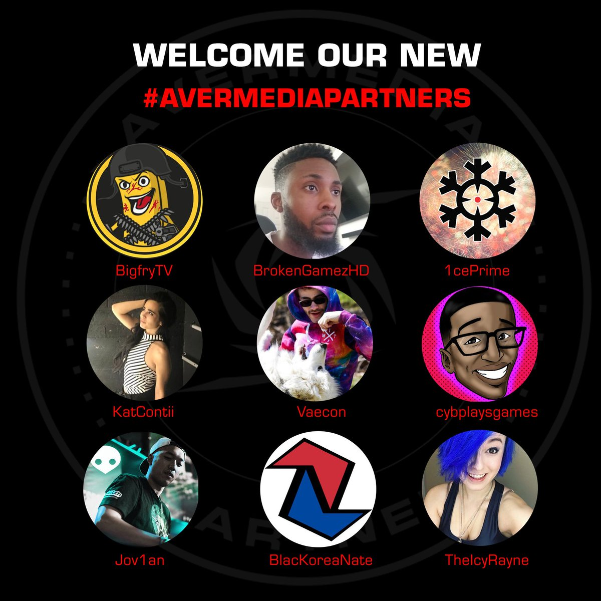 We are very excited to welcome these creators & streamers to our #AVerMediaPartner program.