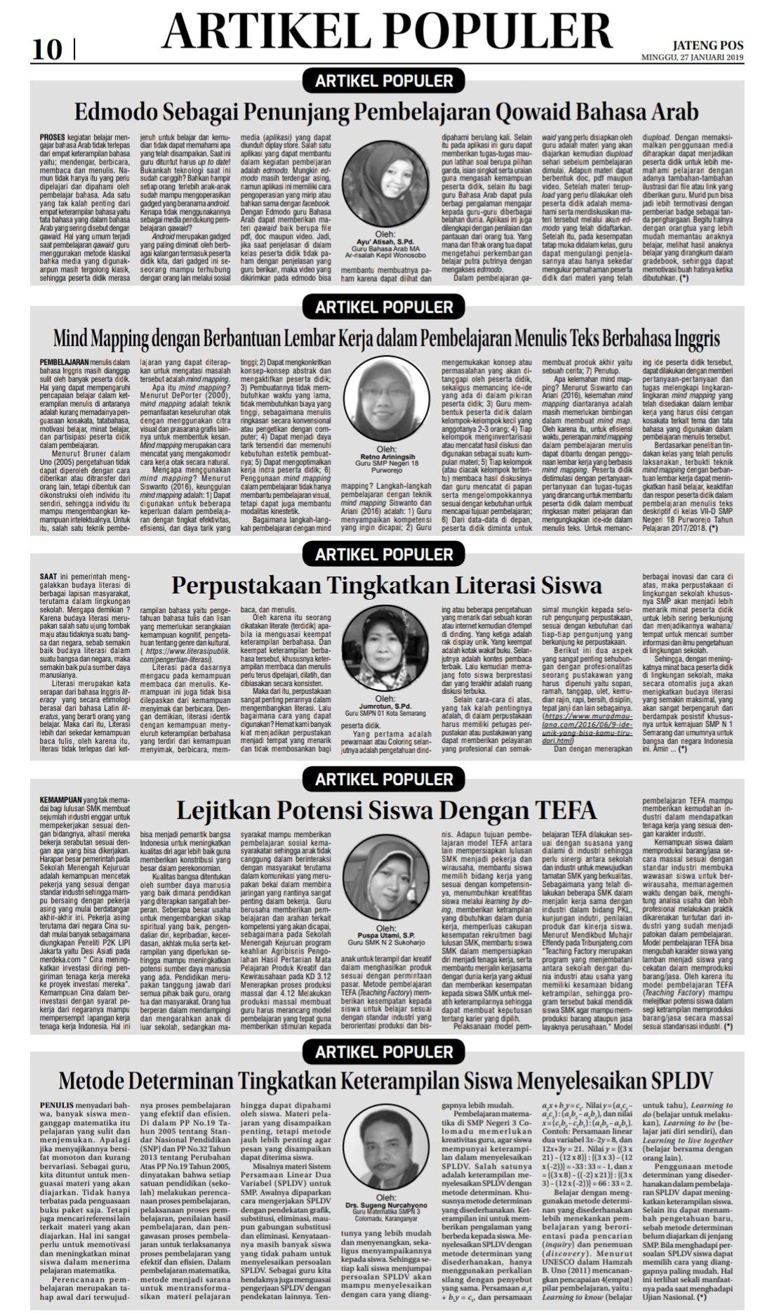"Jateng Pos on Twitter ""Jateng Pos Edisi Minggu 27 Januari 2018 Jawatengahyojatengpos jawatengah infojateng semarang solo pantura pati pekalongan"