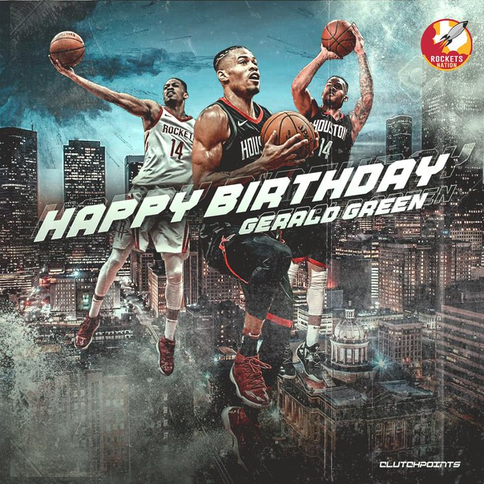 Join Rockets Nation in wishing Gerald Green a happy 33rd birthday