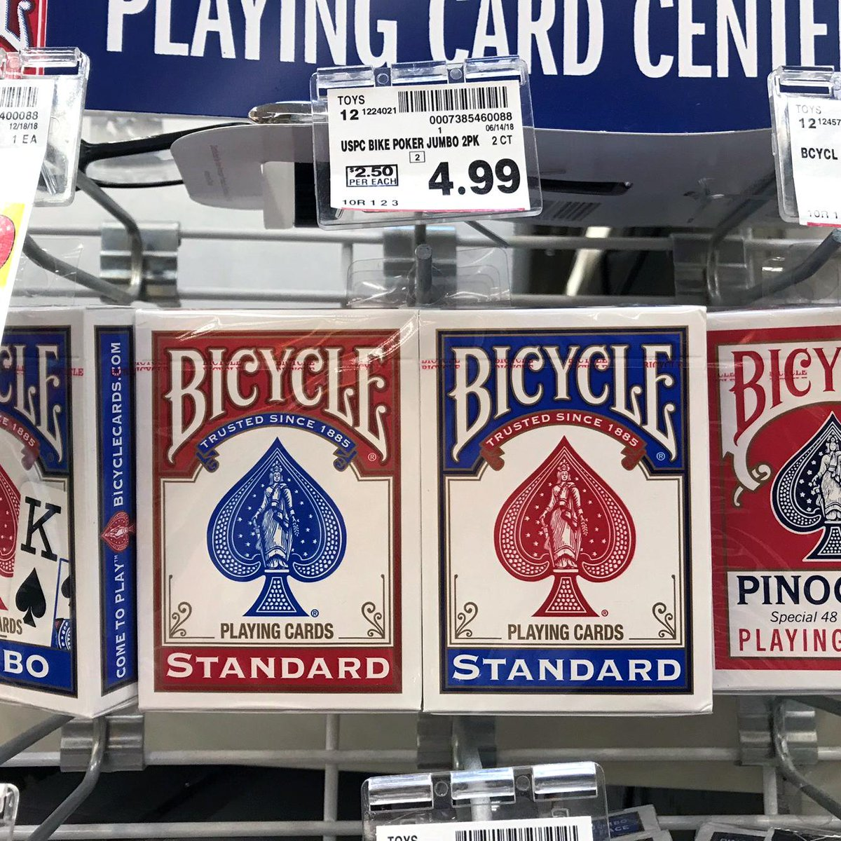 ♥️♠️♦️♧ Found Bicycle® Poker Size Standard Index