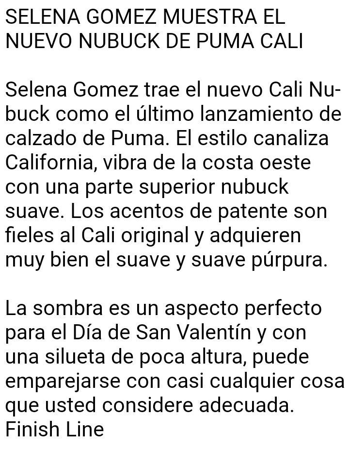decb2c738fd9 SELENA GOMEZ SHOWS OFF THE NEW PUMA CALI NUBUCK SELENA GOMEZ MUESTRA EL  NUEVO NUBUCK DE PUMA CALIpic.twitter.com 4hCsmVMYnN