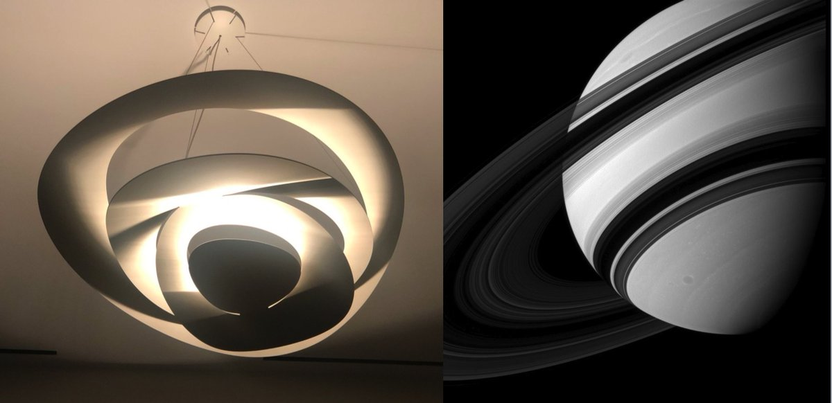 Light & shadow in my living room and in space. Saturn via @NASA Cassini