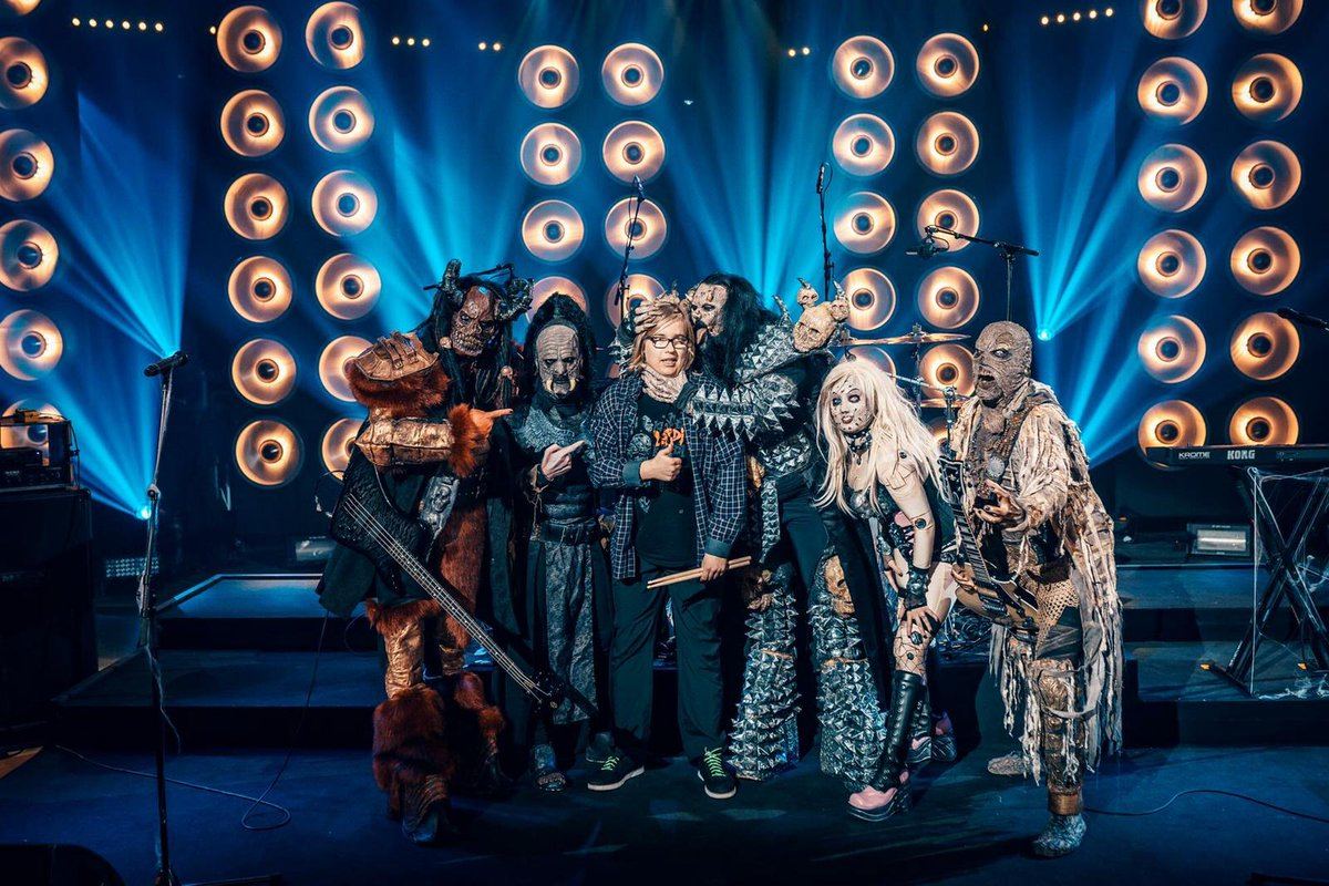 #Lordi tänään #SuomiLOVEssa! #Yle tv1 klo 21:15! https://t.co/KMU8sixnKE