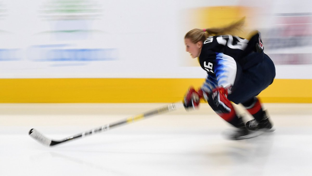 """U-S-A! U-S-A! 🇺🇸  Gold medalist @KendallCoyne on competing in the NHL's 'Fastest Skater' comp: """"I knew it was a moment that was going to break a lot of barriers and a moment that would change the perception of our game and show support to our game.""""  More: https://pens.pe/2DA4WGW"""