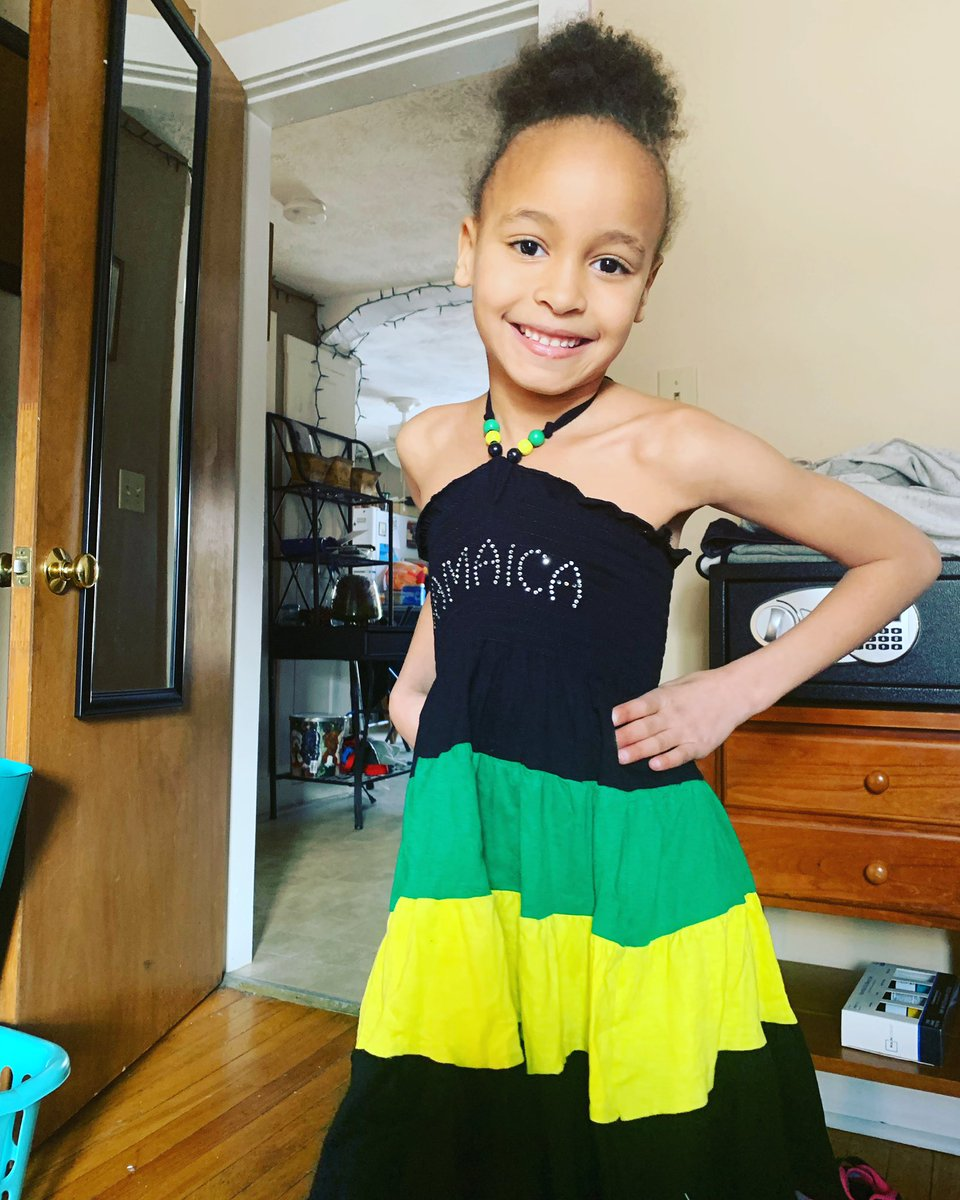 My grand daughter with her Jamaica dress https://t.co/RFToz31dlf