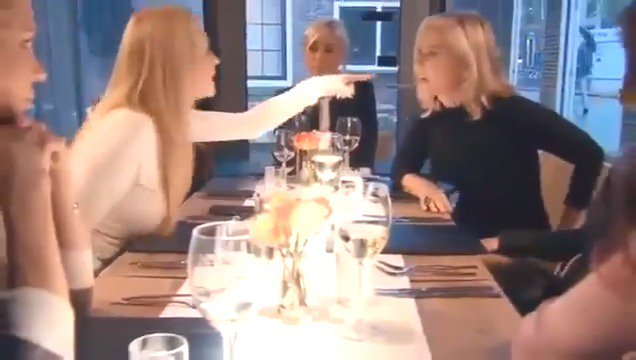 #rhobh Iconic Amsterdam dinner from hell