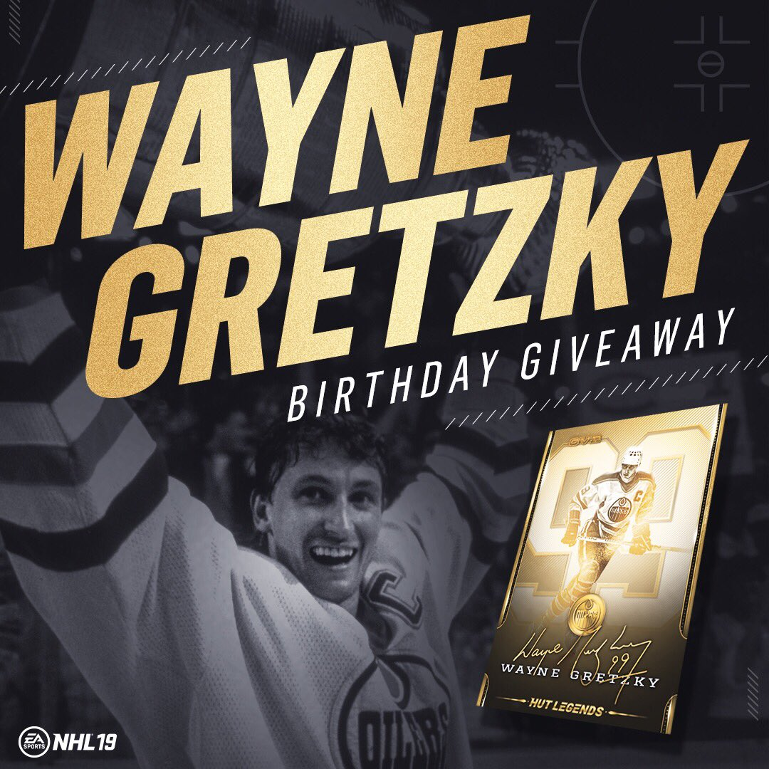 Happy Birthday to the 🐐  RT for a chance to win Gretzky on your HUT team!
