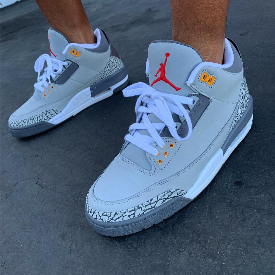 soletoday sk8thegr8 broke out the cool grey air jordan 3s from 2007 would  you like to 0479bfeff6c1