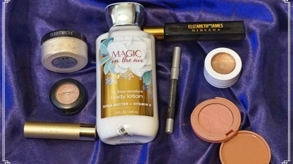 A staging of makeup products