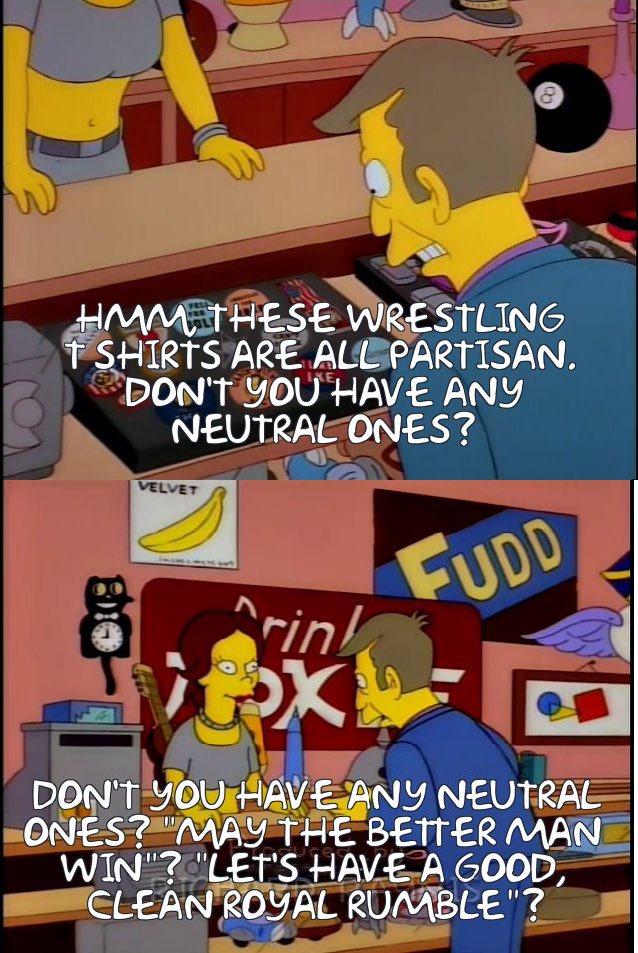 Simpsons wrestling memes on Twitter: