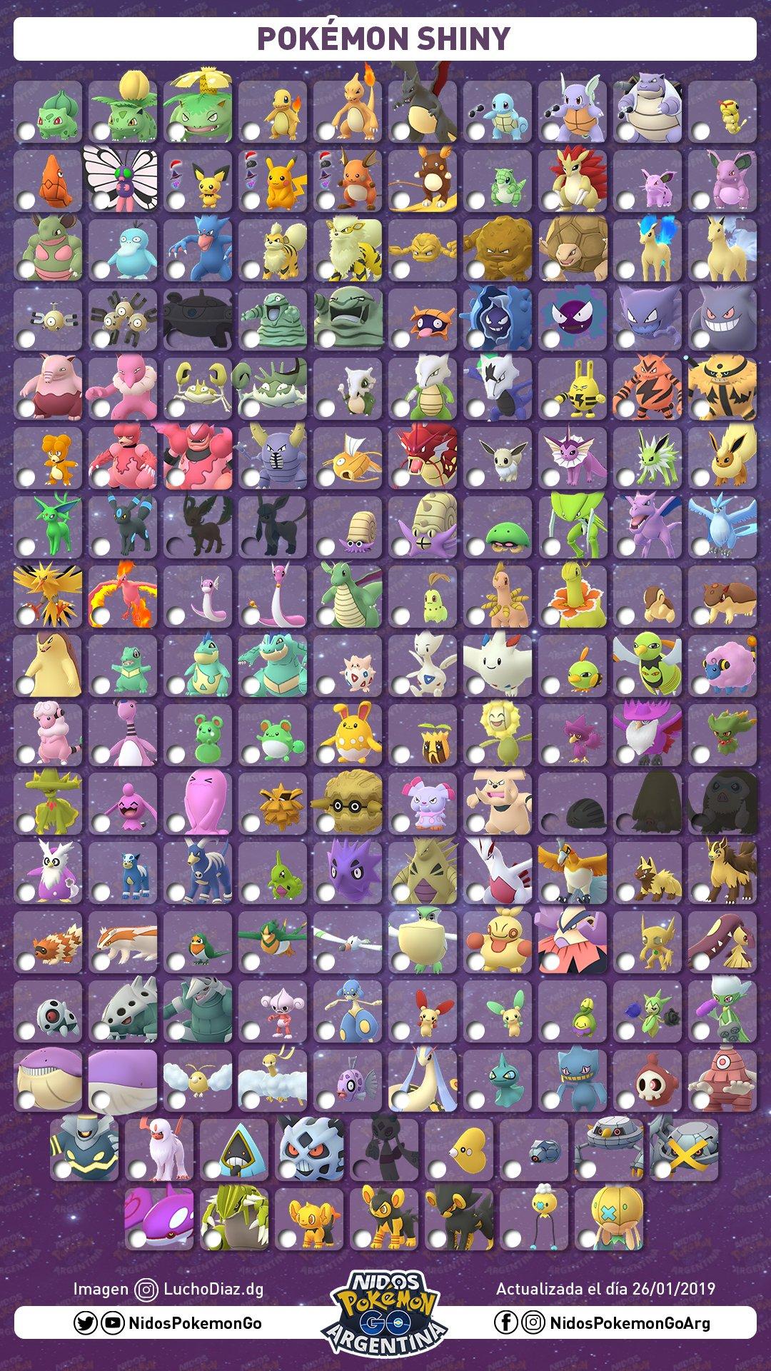 Imagen de Pokémon shiny Enero 2019 hecho por Nidos Pokémon GO Argentina