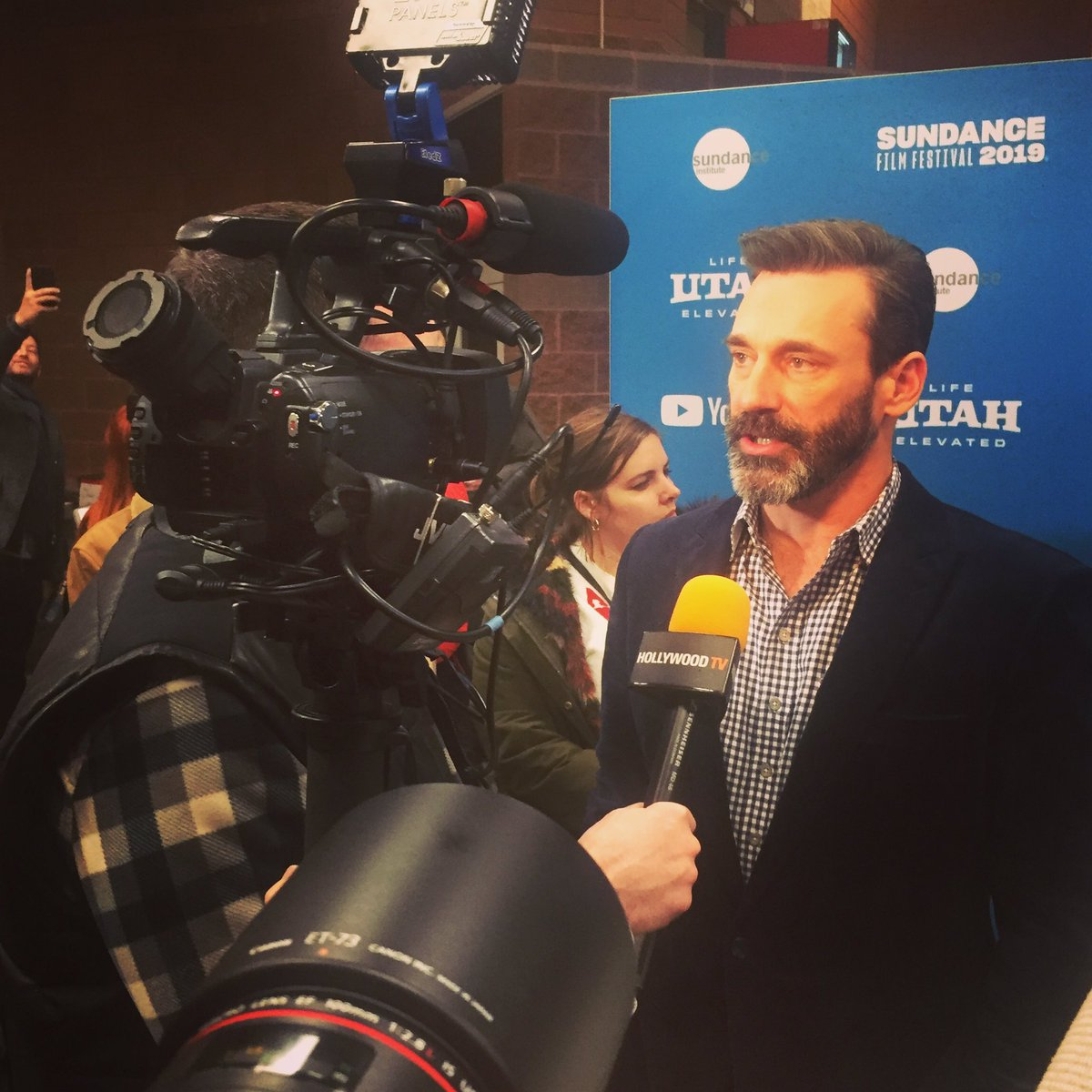 Jon Hamm at the #SundanceFilmFestival2019 for the premiere of The Report