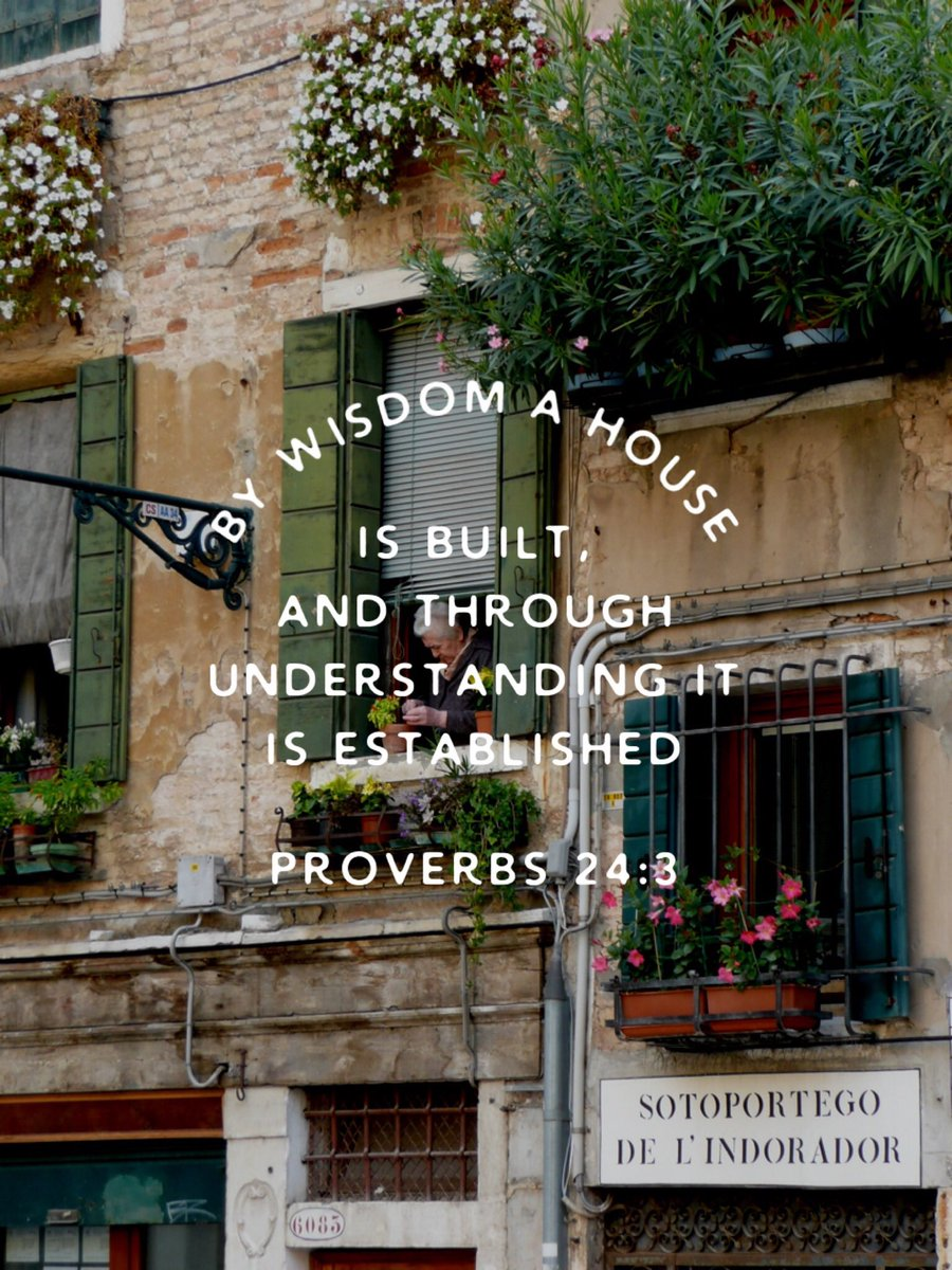"""""""By wisdom a house is built, and through understanding it is established; through knowledge its rooms are filled with rare and beautiful treasures."""" Proverbs 24:3-4 NIV  #followJesus #Jesus #grace #faith #hope #love"""