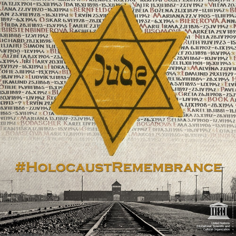 The #Holocaust began with words, but with education and knowledge we can counter hate speech and help prevent genocide.  27 January is International #HolocaustRemembranceRemembranhttps://t.co/41dxzOZfJTce Day  ℹ️