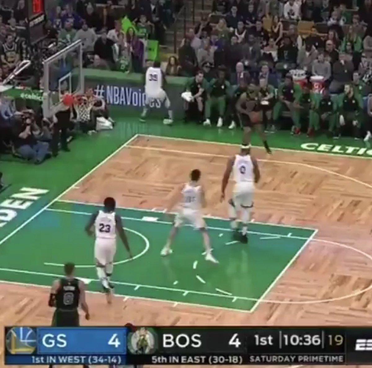Warriors Houston Live Stream Reddit: [warriorsworld] Dumbass Wall 4 Ft From The Court, KD Tries