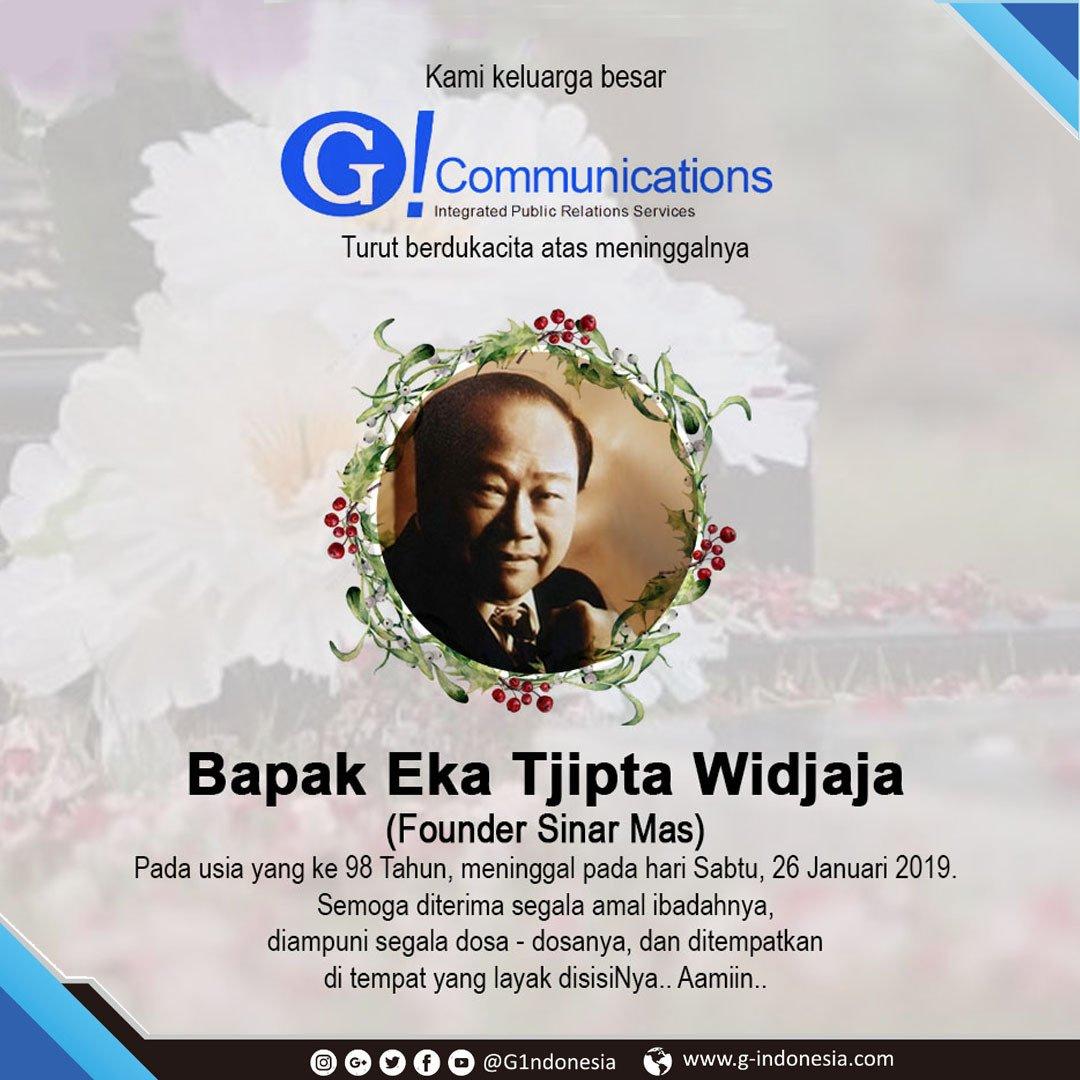 G1ndonesia Turut berdukacita atas meninggalnya Bapak Eka