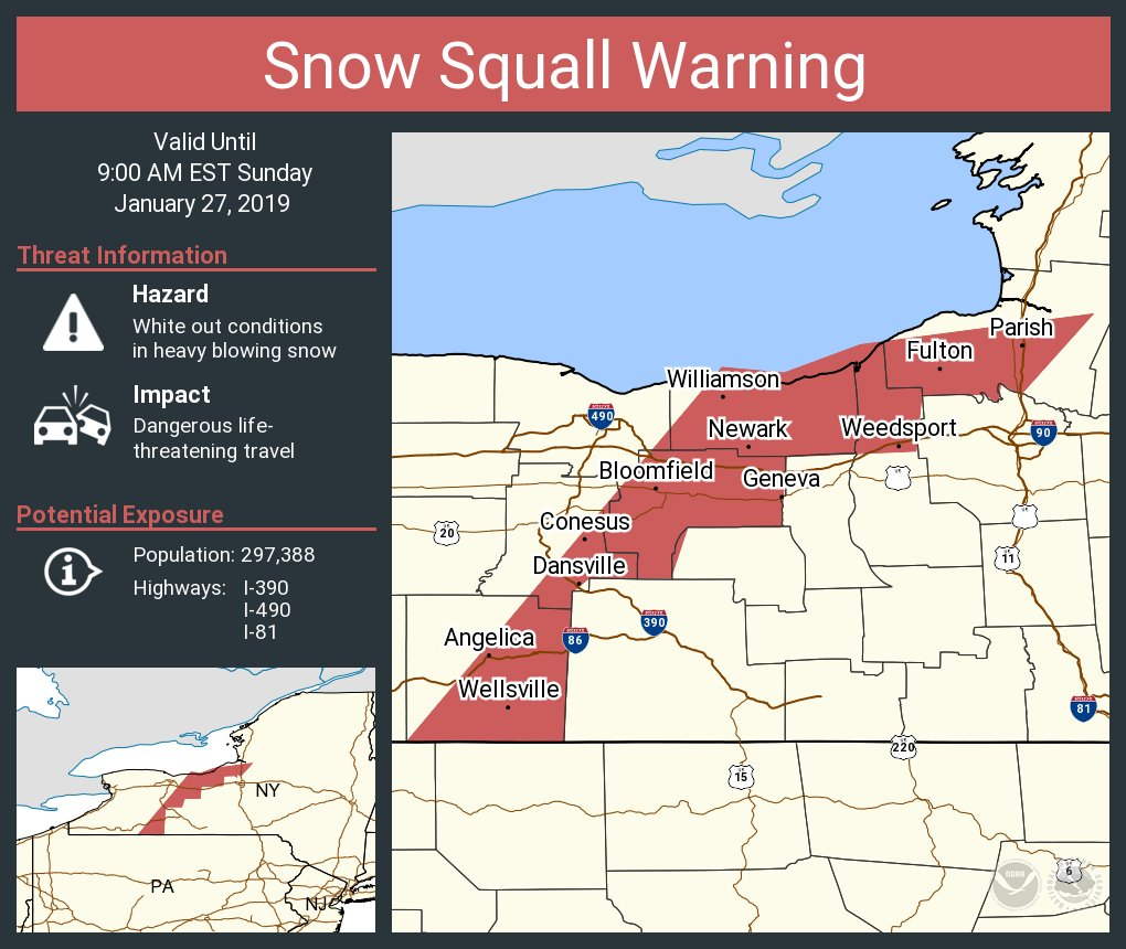 Nws Buffalo على تويتر A Snow Squall Warning Is In Effect Until 9