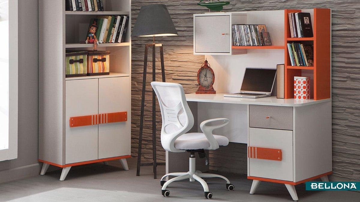 Turuncunun enerjisi beyazın sakinliğiyle buluştu! Torino'nun eğlenceli ve benzersiz tasarımı gençlerin odasına çok yakışacak. http://bit.ly/TorinoGençOdası #Bellona #HomeDecor #Decoration #Interior