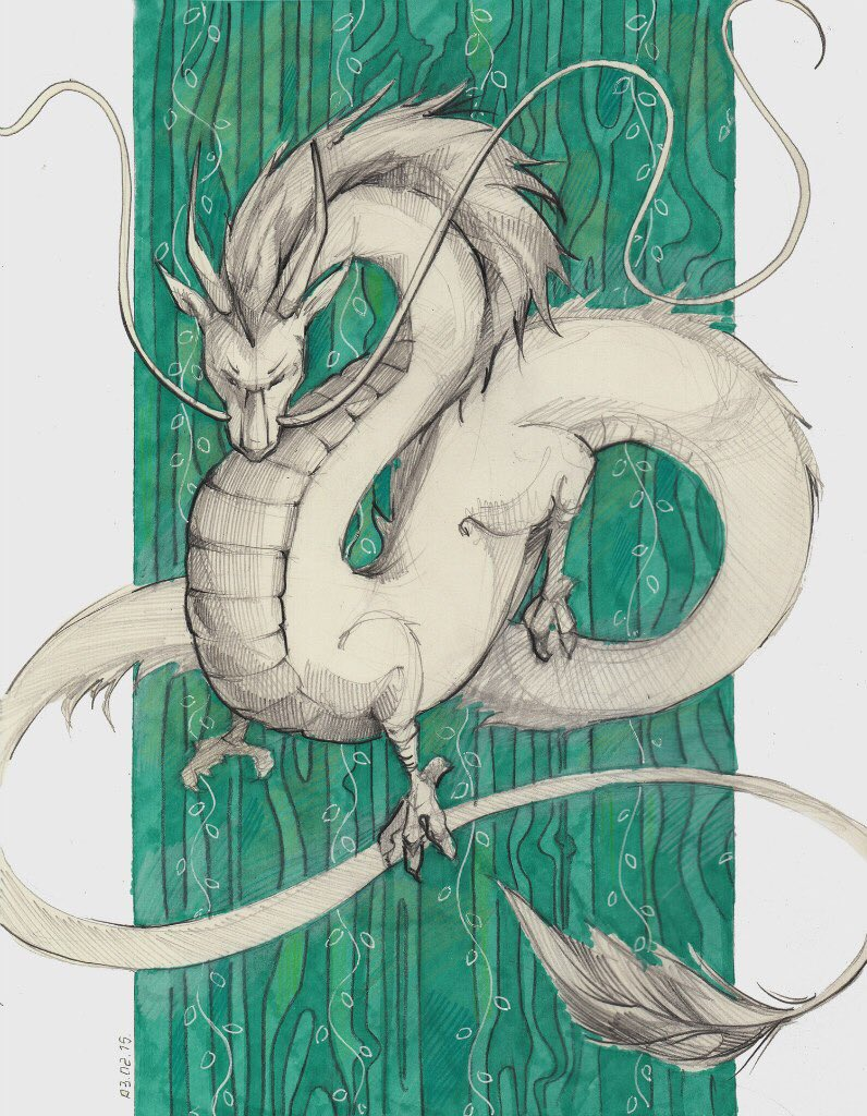 Картинка дракона хаку