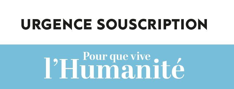 Pour que vive L'Humanité. Elle a besoin de vous. > Participez à la souscription : https://www.donspep.caissedesdepots.fr/?journal=huma   > Abonnez-vous, abonnez vos amis, votre famille :  https://humanite.aboshop.fr/common/categories/1711… …  > Venez nombreuses et nombreux le 22 février à la soirée de soutien à la Bellevilloise