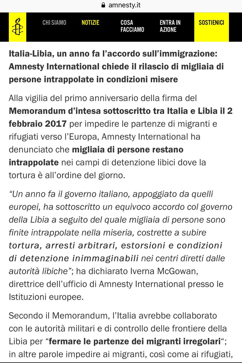 d6fb52eda Il governo denunciato da Amnesty per gli orrori nei  lagerlibici è il tuo