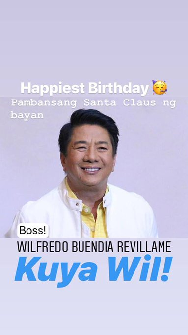 Happy 58th Birthday sa ating Pambansang Santa Claus, Willie Revillame!