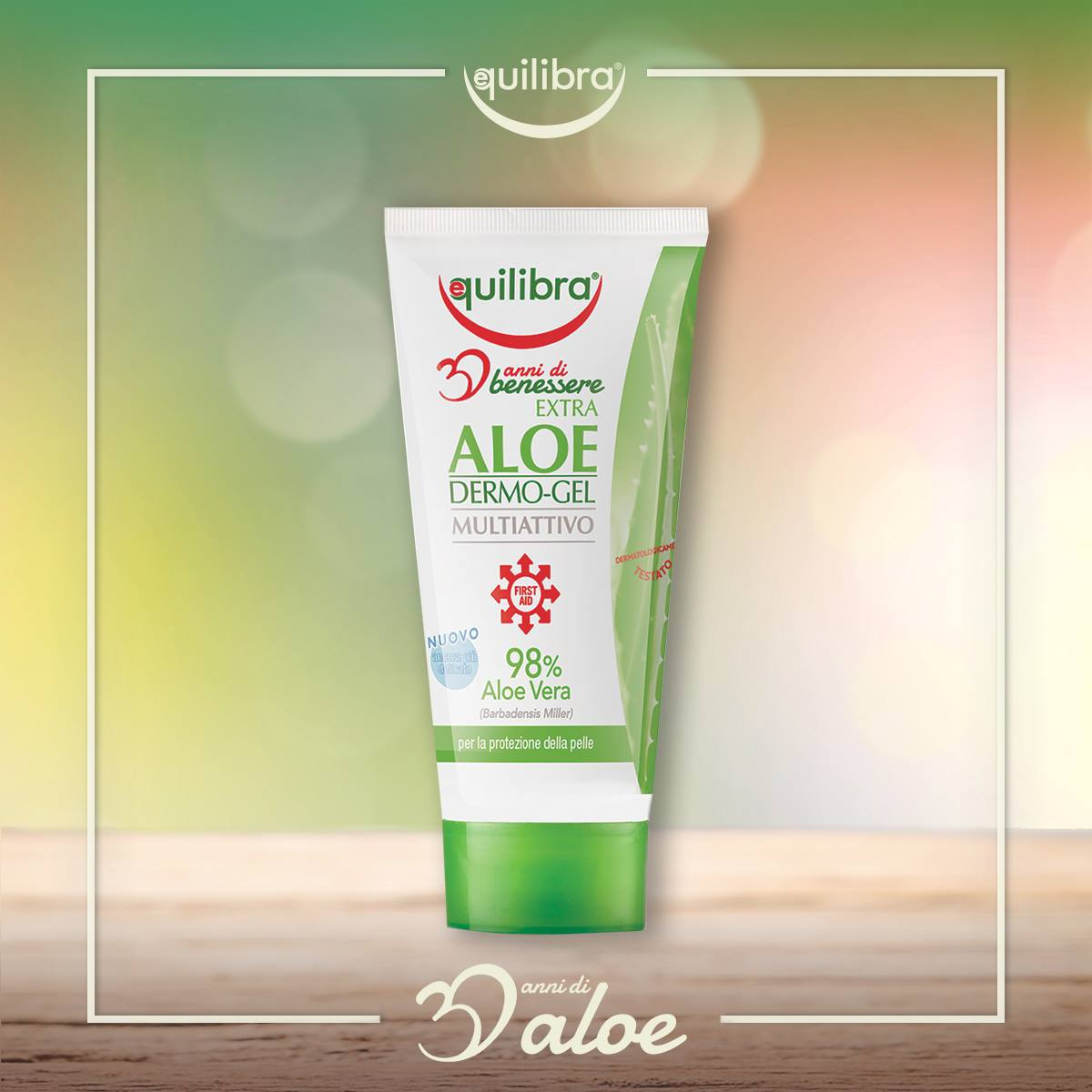 #EQUILIBRA® EXTRA #ALOE DERMO-GEL is obtained from Aloe Vera leaves & gives relief to the skin like contact with heat sources, gum inflammation, tired & excessively stressed feet, redness from friction or sweat, epilation or shaving. #equilibrapeople #doha #qatar #wellcaregroup