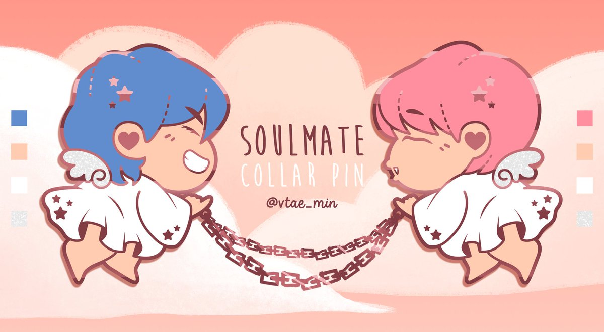 [PLS RT!] 🇮🇩 Indonesian Preorder for the Soulmate Pin is NOW OPEN!! Click the link below to head to my store!👇 https://tokopedia.link/ISb9HT3DOT Please spread this around guys! Thank you very much 💜💜💜 #VMIN #MINV #V #TAEHYUNG #JIMIN #BTS