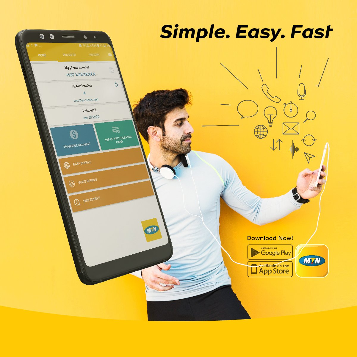 Simple  Easy  Fast to Activate below bundles and services