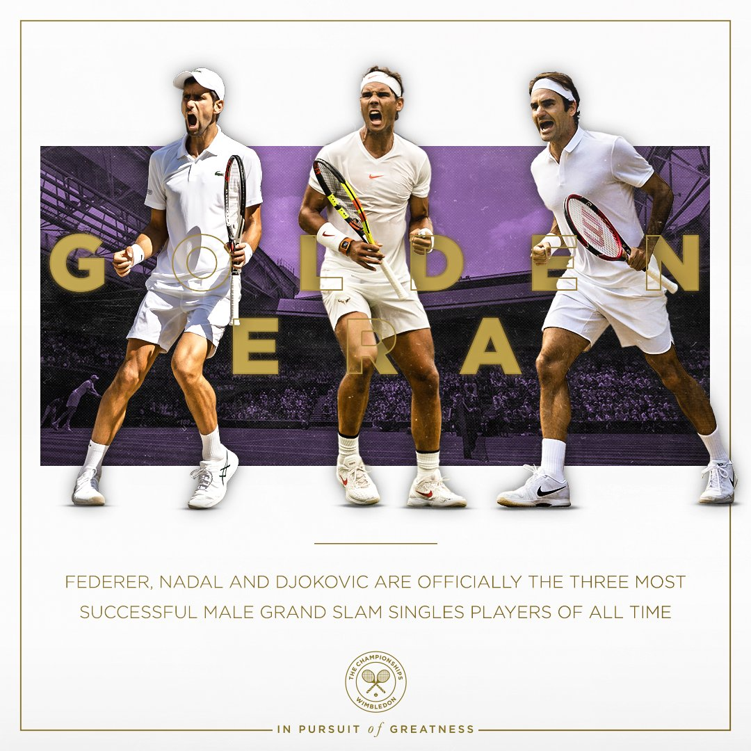 52 Grand Slam titles between them, spanning 16 years. And still not done... #Wimbledon