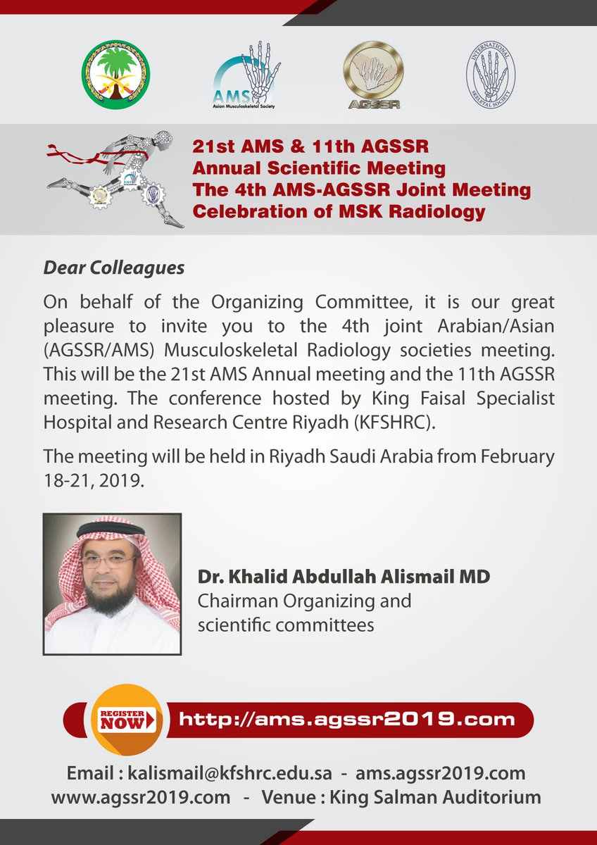 21st AMS & 11th AGSSR Annual Scientific Meeting The 4th AMS-AGSSR