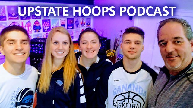 Gananda Blue Panthers in-studio .::. Upstate Hoops Podcast 1/27/19