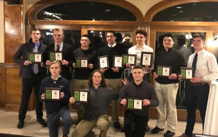 9 All Conference players, Julien Rivas Division Player of the Year. Uncas Division Champions And 10-0 Pequot Conference Champions. #hungryandhumble #dogpound #2018Wrapped <br>http://pic.twitter.com/JSTQa32HY7