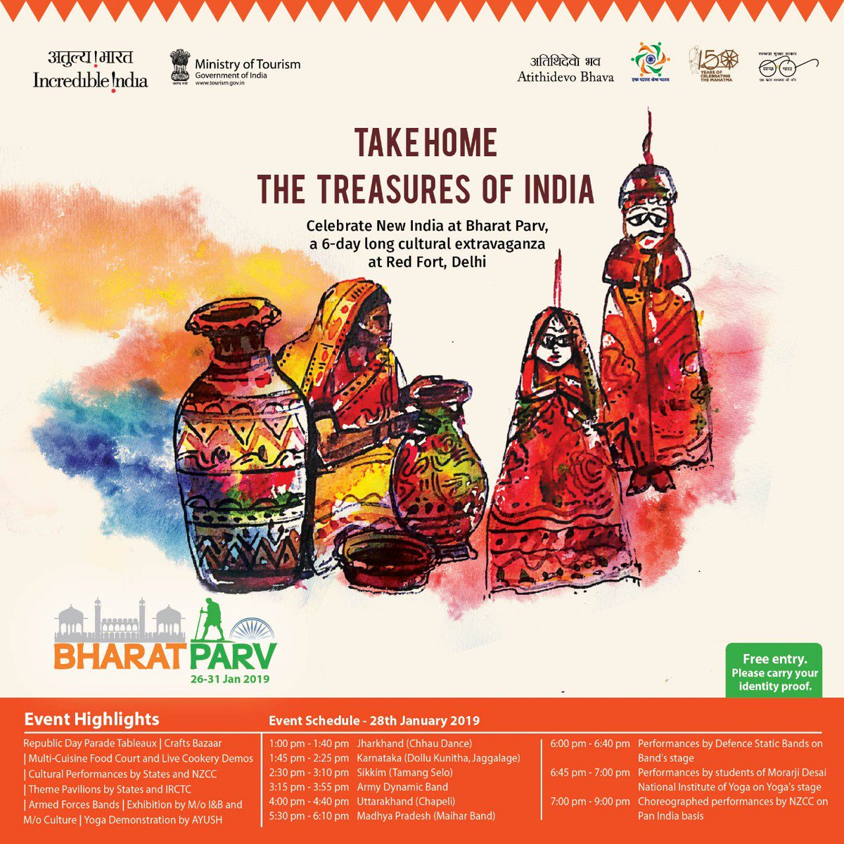Get up-close with the cultural riches of India at the #BharatParv crafts bazaar. This expansive mart for traditional handicrafts & collector's items from all over the country speaks volumes about how these works of art & the dexterous artisans behind them keep our heritage alive.
