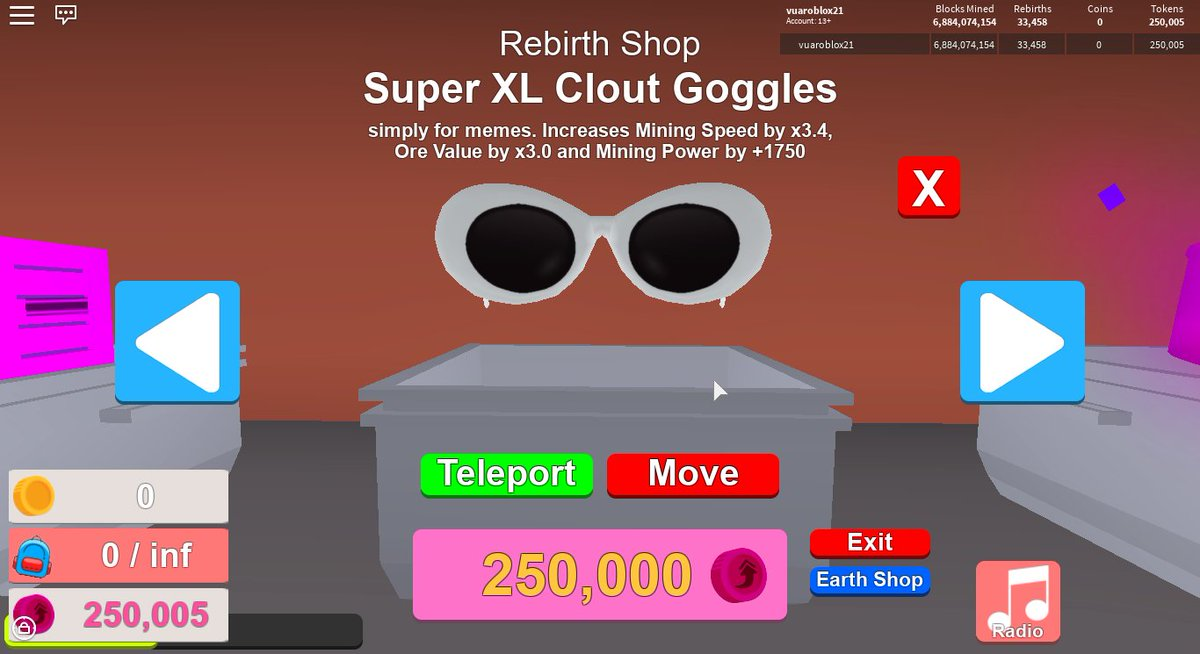 d0d3133774 Chillin on Roblox in Sunday night and  - Bought my third super xl clout  goggles