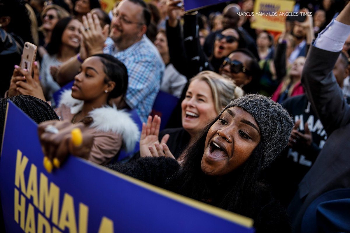 Image result for kamala harris kicks off presidential bid oakland crowds LA times