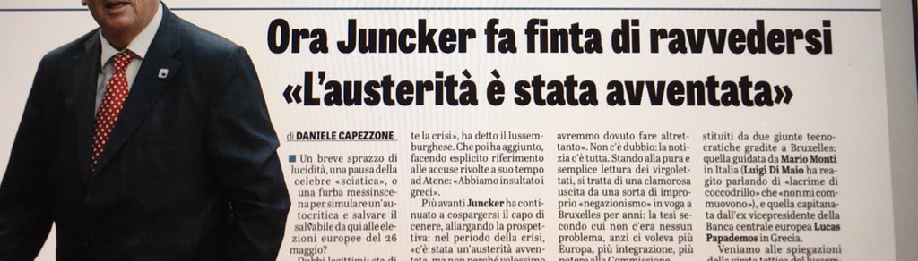 Daniele Capezzone's photo on #juncker