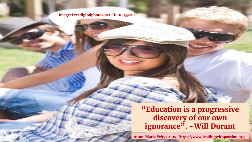 Anne Maria Yritys On Twitter Education Is A Progressive Discovery