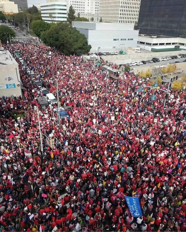 Striking teachers and supporters in LA. Good gracious. (Ht @haymarketbooks)