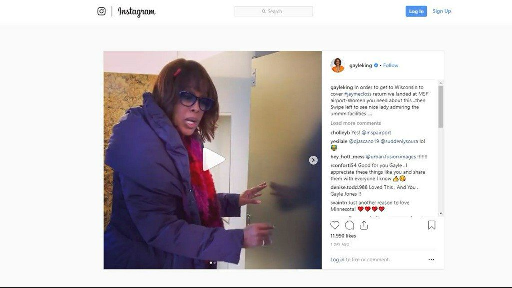 CBS co-host Gayle King LOVES the bathrooms at MSP Airport https://t.co/LQlcvRQV9X