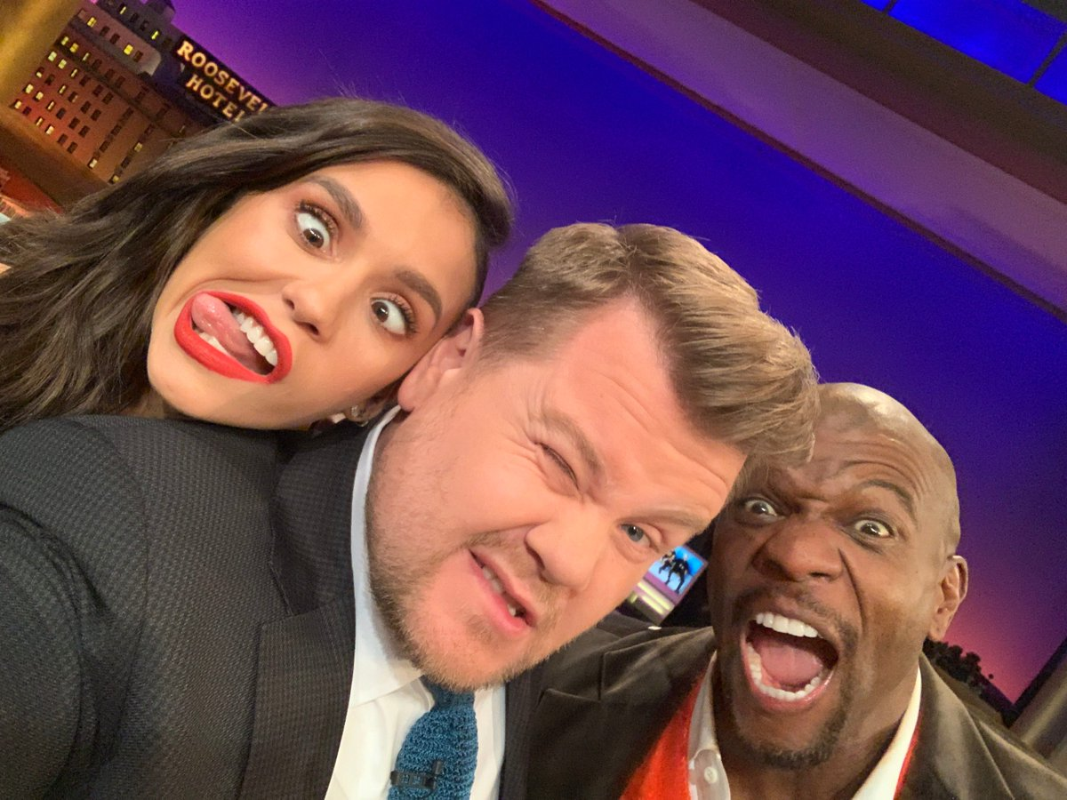 .@ninadobrev and @terrycrews are on tonight's #LateLateShow and NOBODY IS HAVING A GOOD TIME.