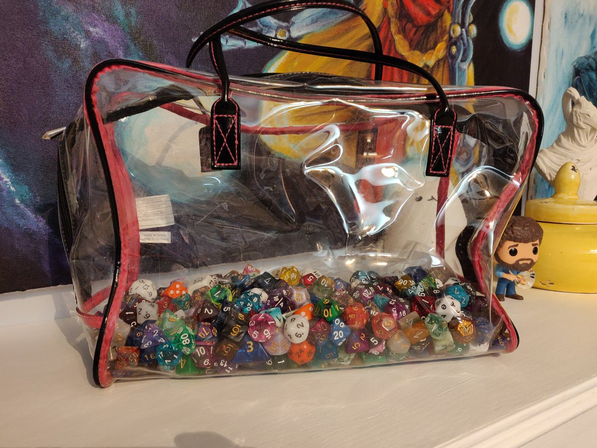 New bag for my dice. Very spacious... For now...