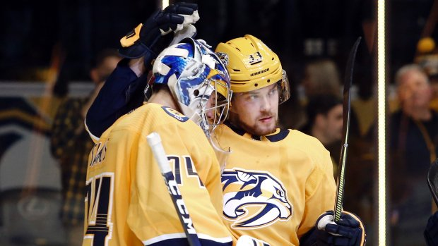 Arvidsson nets hat trick as Preds rout Capitals. MORE: https://t.co/AgmcDuWi3n