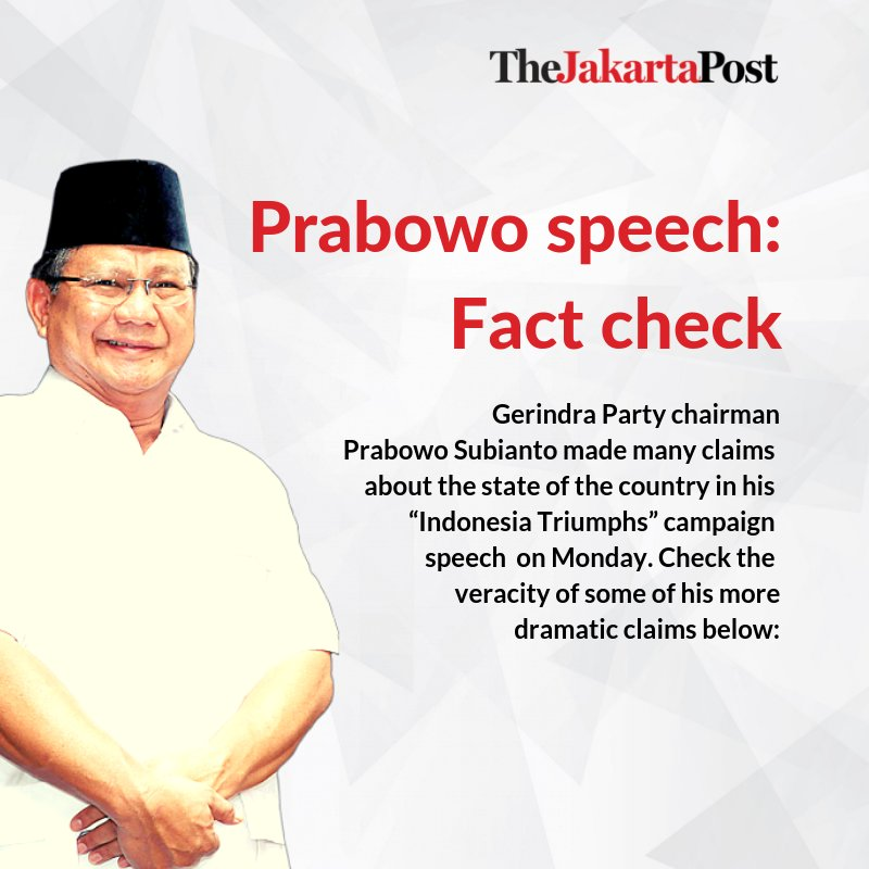 Prabowo speech: Fact check #jakpost