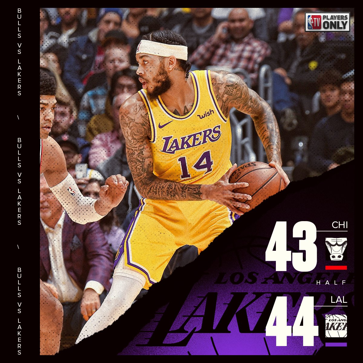 We've got a tight game at the break at Staples Center!  📺: NBA TV   #PlayersOnly