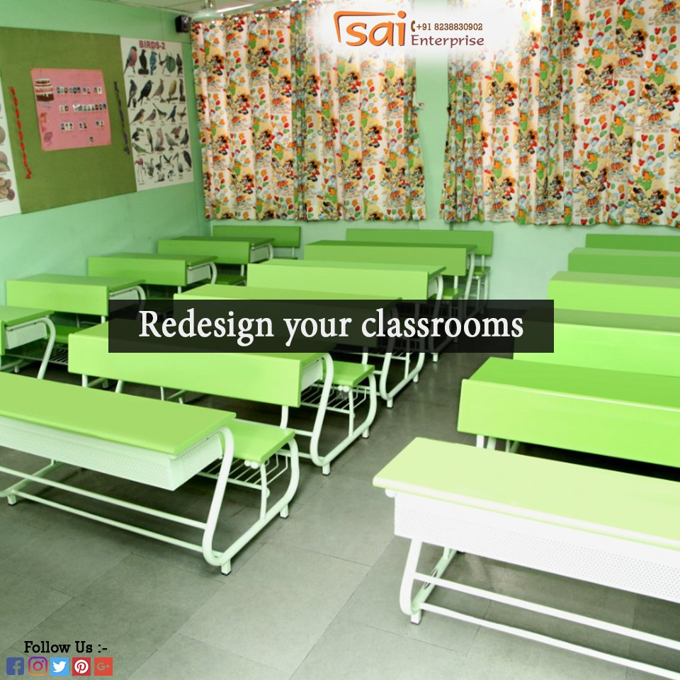 Redesign your classrooms with the all-new school benches made especially for schools. Contact us for orders at +91 8238830902. For more details visit http://www.saienterprisesurat.com  Also, visit our Instagram http://www.instagram.com/saienterprisebhatpore …  #Furniture #SchoolFurniture #OfficeFurniture #Library